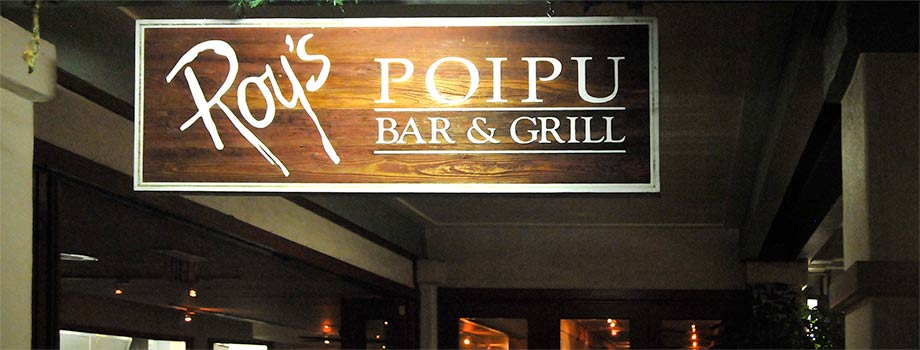 Roy's Poipu Bar & Grill sign