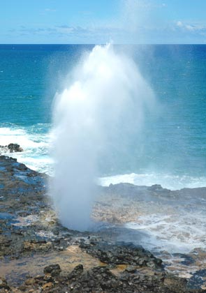 Photo of Spouting Horn from the parking lot