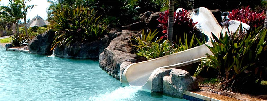 Waterslide at the Kiahuna Swim and Tennis Club